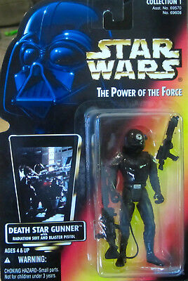 Death Star Gunner 1996 Power of the Force POTF Star Wars RED Card Variant