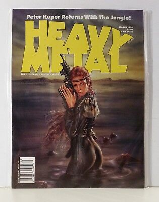 Heavy Metal Magazine Volume 15 #7 March 1992 Royo Aarestrup Kuper Troyas Teare