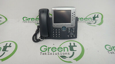 Cisco CP-7975G 7975 7975G 8-Button Color LCD Unified IP Phone w/ Handset & Base
