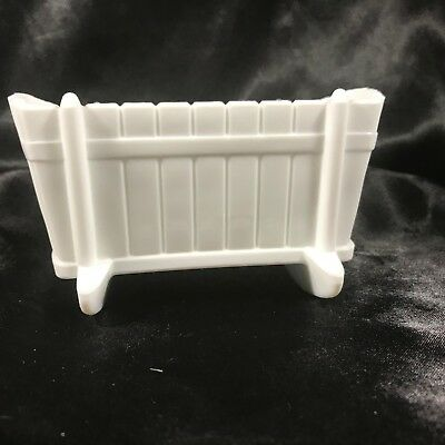 Vintage 1950's Indiana Milk Glass Baby Cradle Bassinet Planter Dish