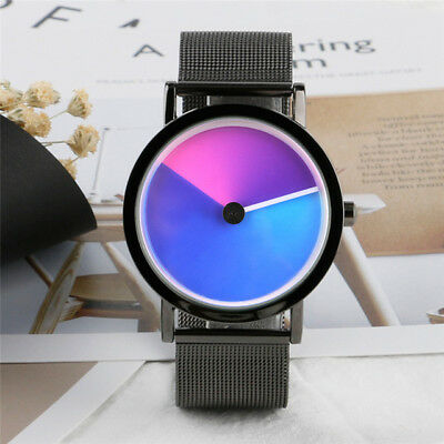 Men woman Watch cool stainless steel Rainbow Watch Vortex Dial Unique  Design