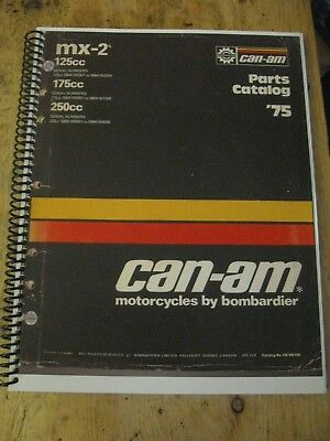 1975 Can-Am Mx-2 125 175 250 Parts Book Rotax  Bombardier Free Ship Us+Canada