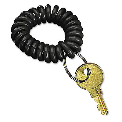 Wrist Key Coil Wearable Key Organizer, Flexible Coil, Black