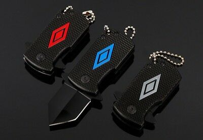 Mini Knife EDC Keyring Keychain Necklace Karambit Steel Neck Claw Folding Knife
