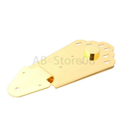 Gold Tailpiece Bridge for 6 String Jazz Archtop Guitar