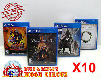 10X Sony Playstation Ps4 Cib Game -Clear Plastic Protective Box Protectors Case