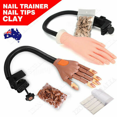 Flexible Nail Art Practice Training Model Trainer Hand Refit Replace Tip