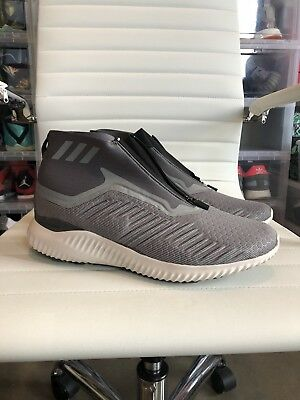 ef5f20fb5e0af Adidas Alphabounce 5.8 Zip Men s Sz 11 Running Shoes Grey white Bw1385