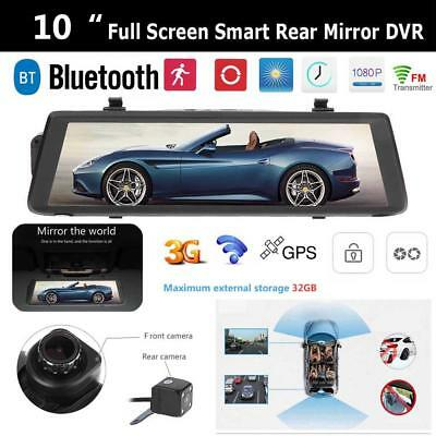 "10"" Touch Screen Android 3G WiFi Car GPS Navigation Rear View Mirror DVR Camera"