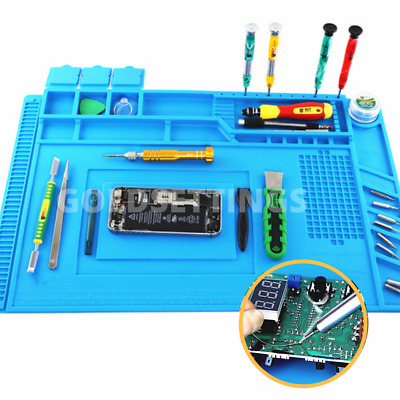 Heat Electronics Repair Mat Silicone Magnetic Insulation Solder Desk Work Pad
