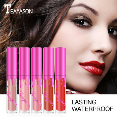 Womens Beauty Waterproof Long Lasting Lip Liquid Matte Lipstick Lip Gloss Makeup