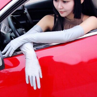 Women Long Spandex Party Gloves Elbow Opera Evening Silk Lining Smooth Gloves