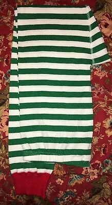 Hanna Andersson Adult Red Green White Stripe Pajama Pants Organic Size XL NWOT