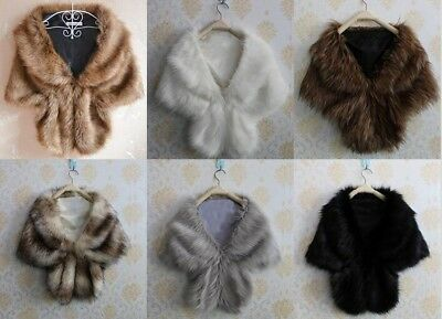 New Cheap Faux Fur Wedding Jackets Bridal Warm Stole Wraps Bolero Shrugs Shawls