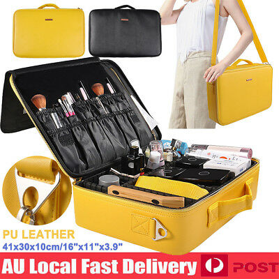 Makeup Artist Bag Travel Cosmetic Case Brush Pouch Storage Organizer Dresser