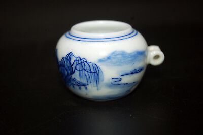 Hand Painted Collectable Porcelain Bird Feeder Bowl for Chinese Bamboo Bird Cage