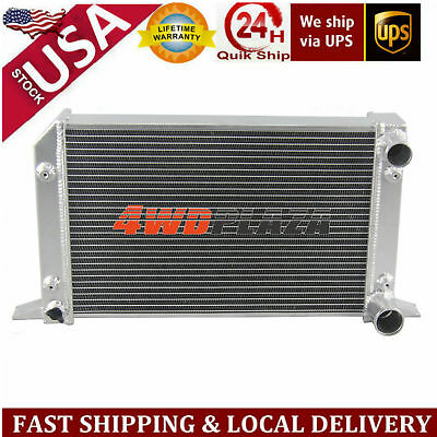 "2Row 56mm 1""Tube Drag Racing Aluminum Radiator For VW Scirocco/Pro Stock Style"
