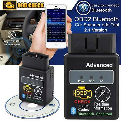 Bluetooth Car OBD2 ELM327 V2.1 Torque Android OBD Engine Fault Code Scan Tool