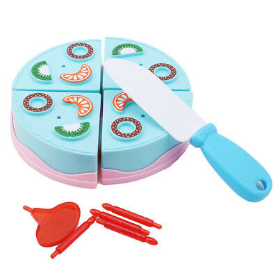 New Birthday Cut Cake Kids Play Gift DIY Educational Pretend Early Kitchen BS