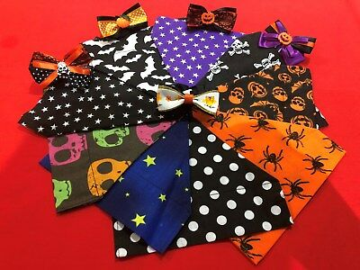 Halloween Handmade Dog / Cat Animal Collar Bandana neckerchief & Bowtie