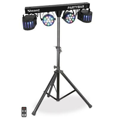 Beamz All-In-One DJ Effect System Party Light Bar LED Par & Derby Partybar-2