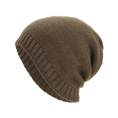 86c05716116 Winter Men s Outdoor Leisure Cap Beanie Hat Wool Knitted Dual Purpose Hat  New