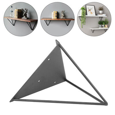2PCS Durable Hairpin Industrial Wall Shelf Support Bracket Metal Prism Mount New