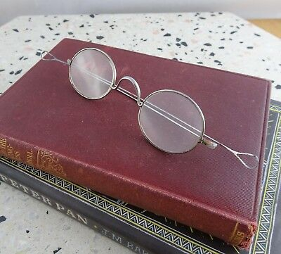 Antique Oval Spectacles, Eyeglasses Late 1800's Long Straight Teardrop Temples