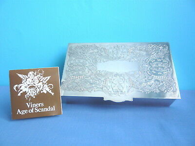 VINER'S LORD PAM'S AGE of SCANDAL SILVER PLATED CIGARETTE BOX