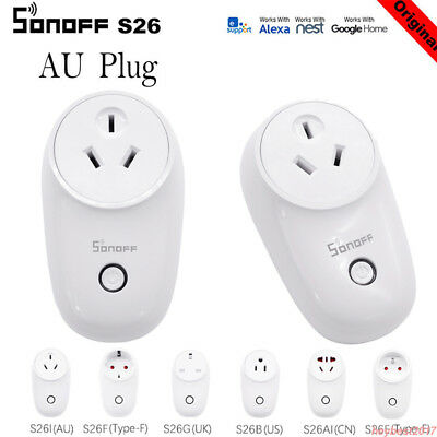 SONOFF S26/S20 SMART WiFi Socket Switch APP Remote Control Controller AU  Plug H1