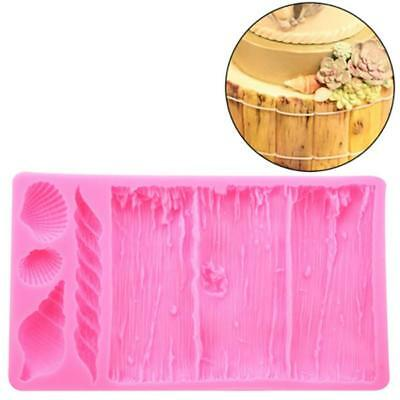 Silicone Bark Texture Cake Border Mold Pink Cake Decorating Mould Fondant BS