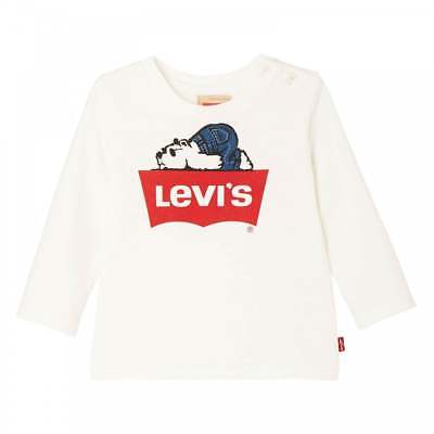 Levis Infants Long Sleeve Print T-Shirt (Cream)