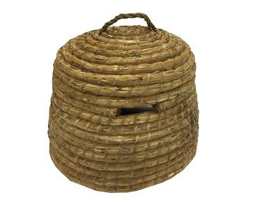 Traditional Handmade Straw Beekeeping Swarm Catching Skep, Beehive, Free P&P