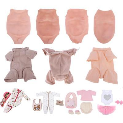 Reborn Supplies Suede Cloth Body/ Belly Plate/ Rompers Clothes for Newborn Doll