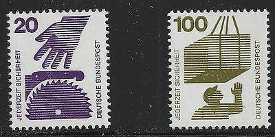 Germany Scott #1076 & 1083, Singles 1973 FVF MNH