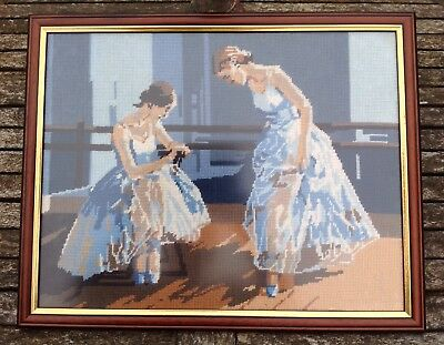 Vintage Fully Framed Tapestry Ballet Dancers Picture