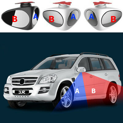UK 1Pc Car Blind Spot Mirror Adjustable Wide Angle 360 Rotation Convex Rear View