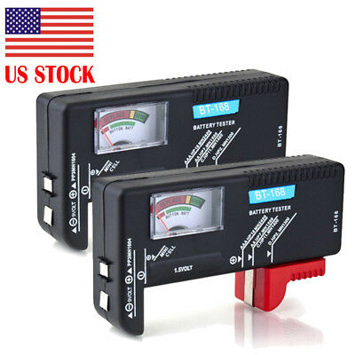 (2-Pack) Universal Battery Tester AA/AAA/C/D/9V/Coin *US-SHIPPER FAST FREE*
