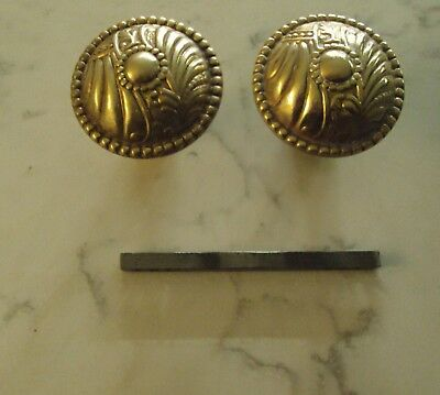 Antique Victorian Eastlake Door Knobs  Brass Corbin