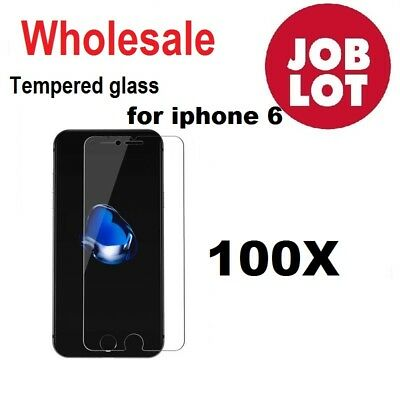 100X Wholesale Job Lot bulk Tempered Glass Screen Protector for iphone 6