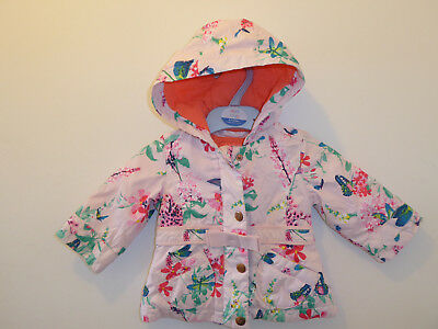 TED BAKER - Beautiful Baby Girls Hooded Summer Coat Jacket 0-3 Months GOOD COND