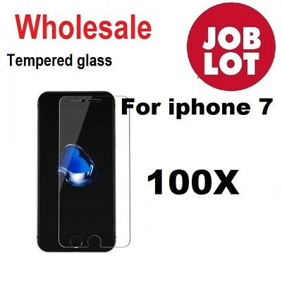 100X Wholesale Job Lot bulk Tempered Glass Screen Protector for iphone 7