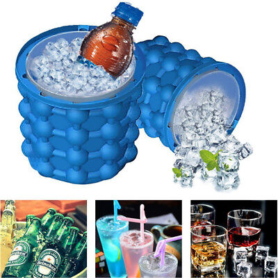 Magic ICE CUBE Maker Bucket Silicone Genie Revolutionary Kitchen Tool Space NEW