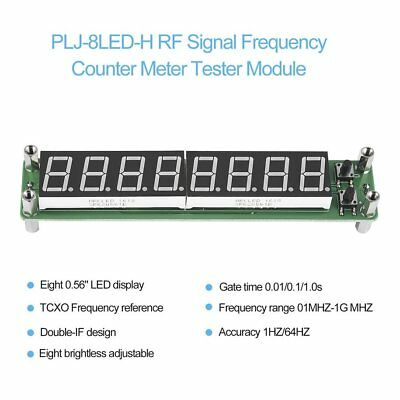 PLJ-8LED-H RF Signal Frequency Counter Meter Tester Module 0.1~1000MHz LED MU