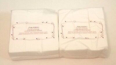 SHISEIDO Facial 100% Cotton Pads 165 sheets 2 PACK SEALED