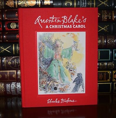 Christmas Carol Charles Dickens Illustrated Quentin Blake New Deluxe Hardcover