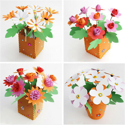 Mini Flower Potted Felting Kits Felt Fabric Sheets for Pink Rose DIY Package