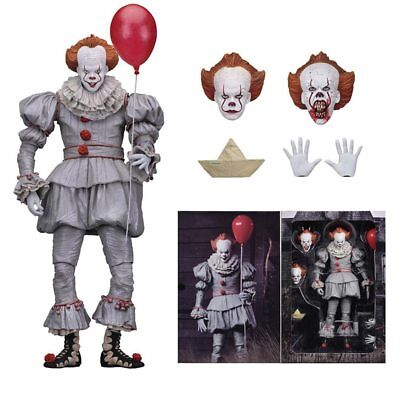 """NECA IT Ultimate Pennywise Clown 7"""" Action Figure 1:12 Movie Doll 2018 New Seale"""