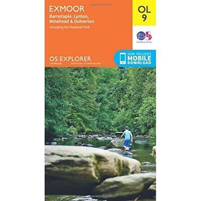 OS Explorer OL9 Exmoor (OS Explorer Map) Ordnance Survey