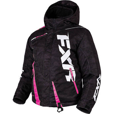 FXR - Boost Black Digi/Electric Pink Kids Jacket - 8